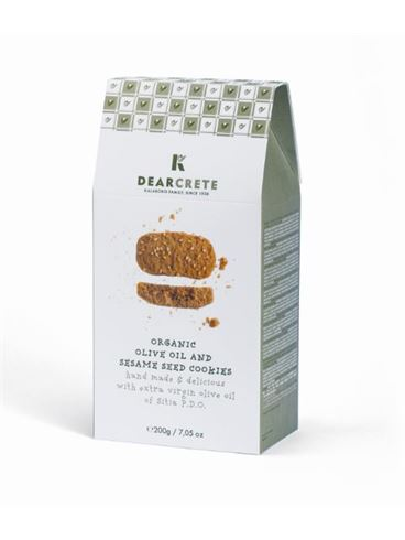 Dear Crete Organic Olive Oil & Sesame Seed Cookies