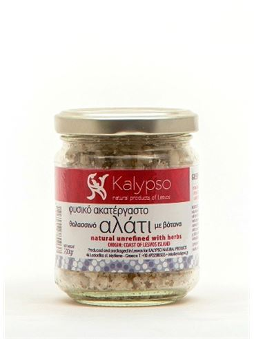 Kalypso Greek natural unrefined Sea Salt with Herbs