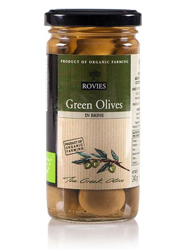Rovies Organic Green Olives in Brine