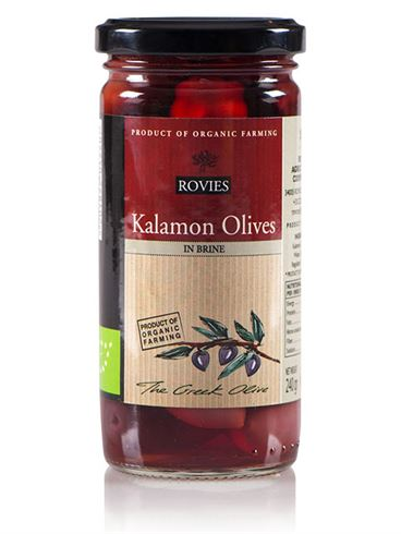 Rovies Organic Kalamon Olives in Brine