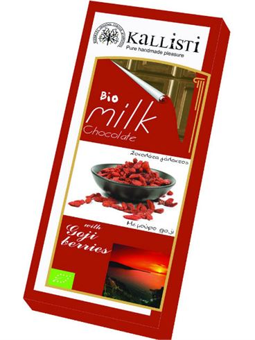 Koxyli Organic Milk Chocolate with Goji Berries