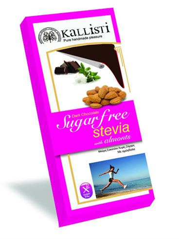Kallisti Dark Chocolate with Almonds and Stevia