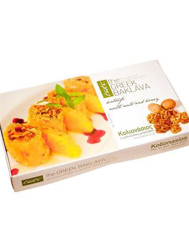 Kolionasios Baklava Individually Wrapped with Kataifi, Honey and Nuts, 5 pcs