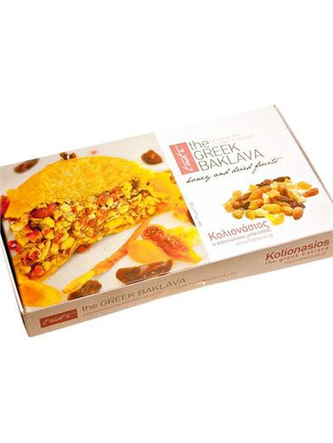 Kolionasios Baklava Individually Wrapped with Honey and Dried Fruits, 5 pcs